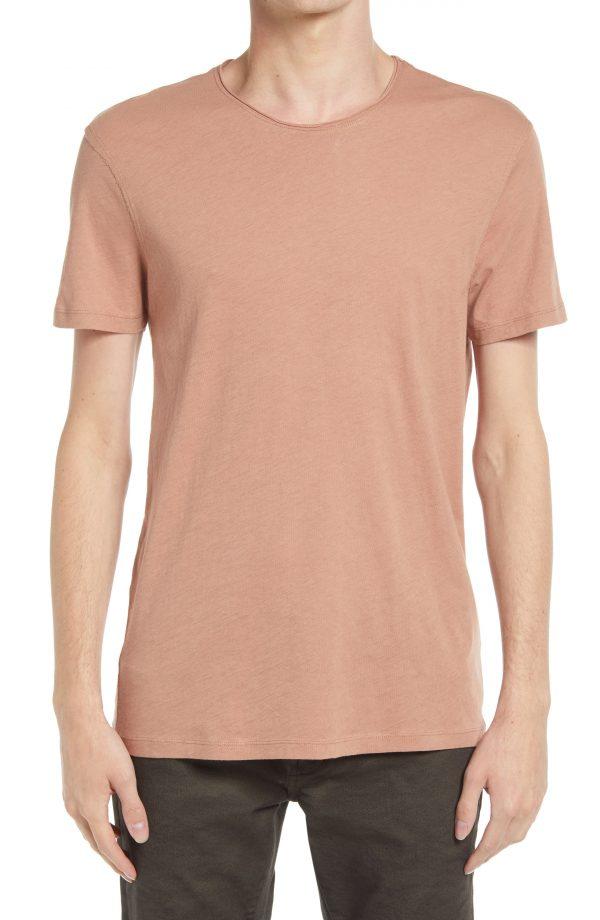 Men's Allsaints Men's Figure Crewneck T-Shirt, Size Small - Pink