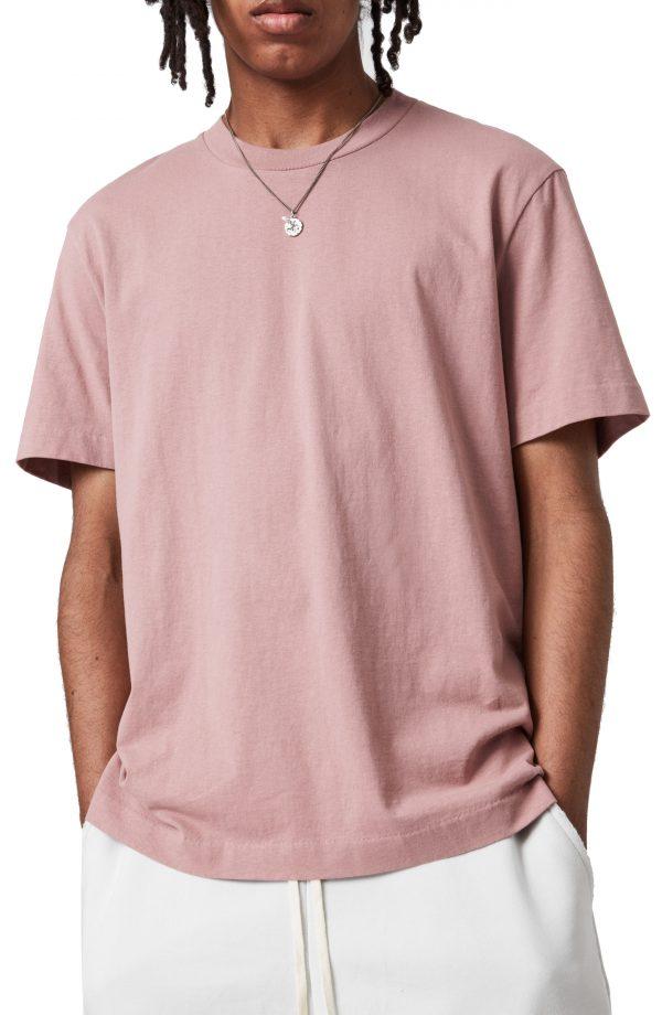 Men's Allsaints Men's Musica Crewneck T-Shirt, Size Small - Pink