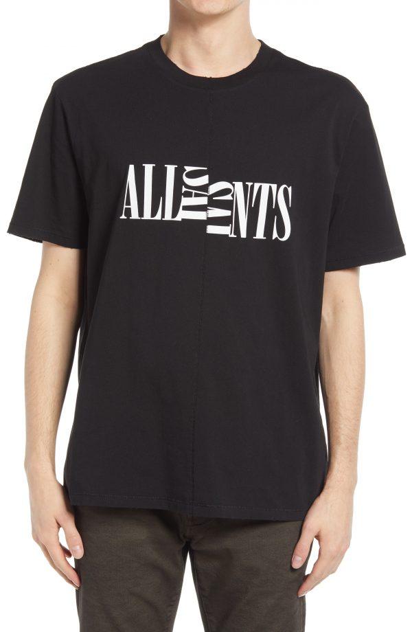 Men's Allsaints Men's Nico Graphic Tee, Size X-Small - Black