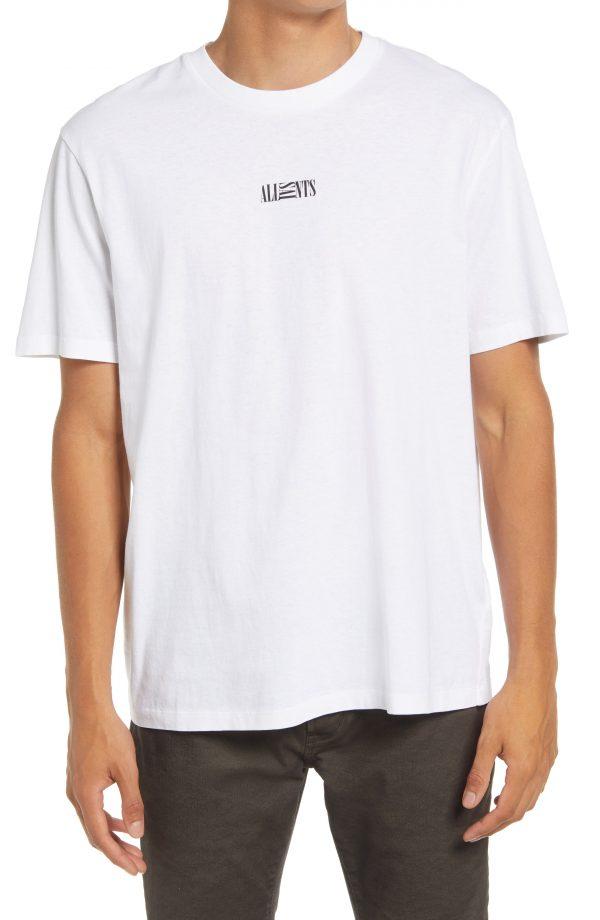 Men's Allsaints Men's Opposition Cotton T-Shirt, Size Large - White
