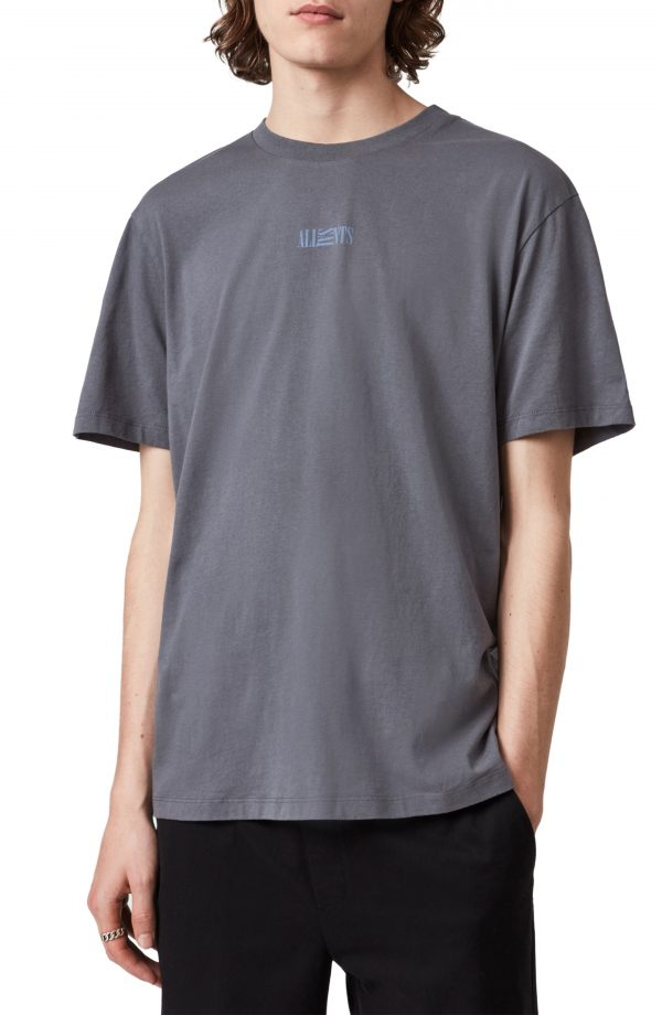 Men's Allsaints Men's Opposition Crewneck T-Shirt, Size Medium - Blue