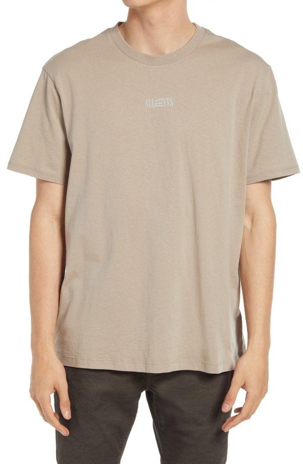 Men's Allsaints Men's Opposition Crewneck T-Shirt, Size Medium - Grey