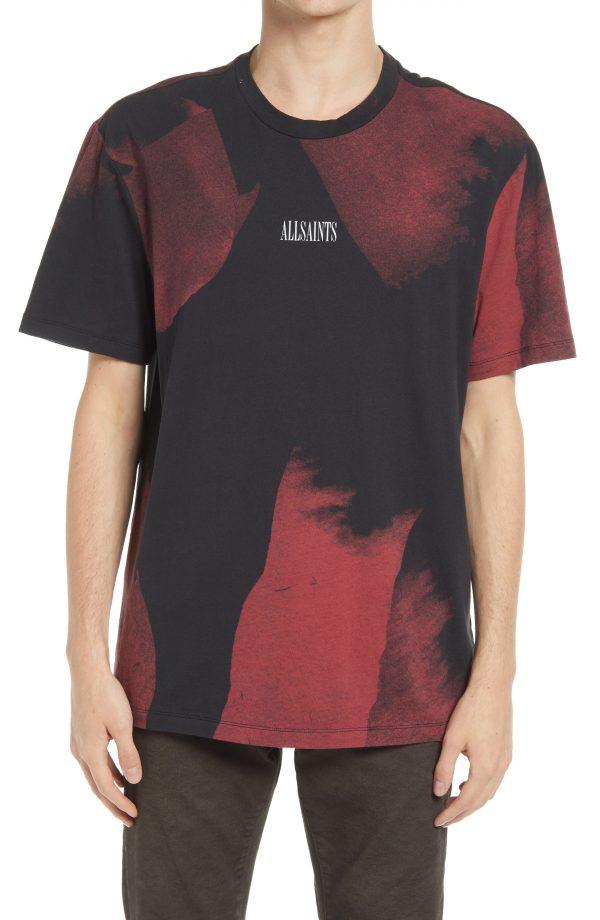Men's Allsaints Men's Santana Crewneck T-Shirt, Size Large - Red