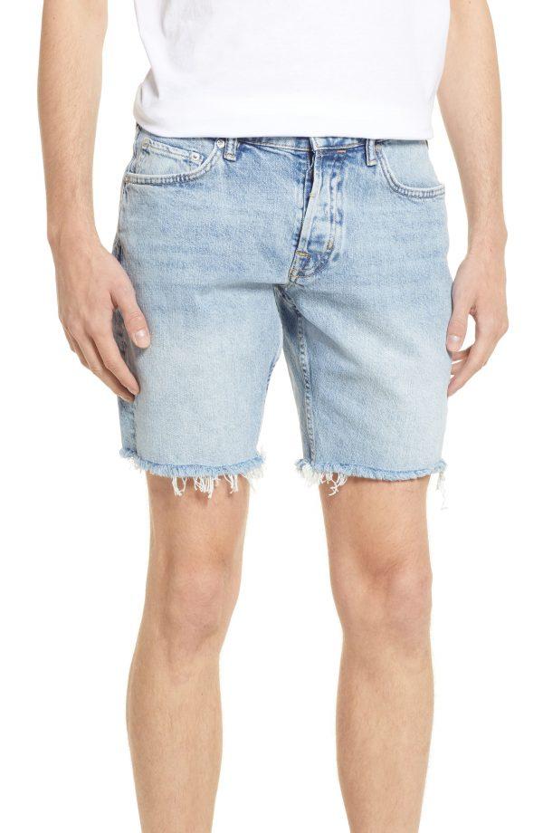 Men's Allsaints Men's Switch Cutoff Shorts, Size 28 - Blue