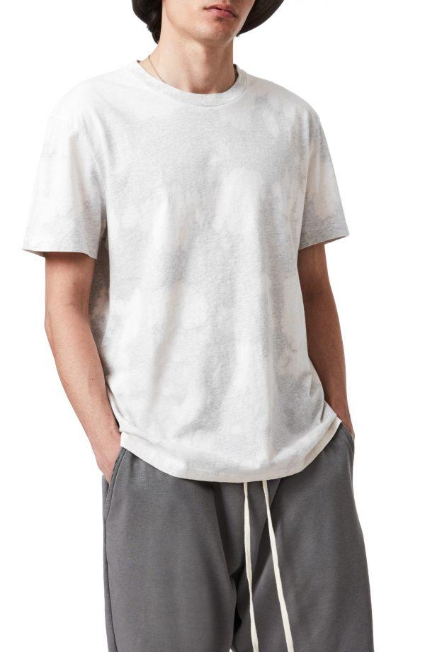 Men's Allsaints Phillips Tie Dye T-Shirt, Size Small - Grey