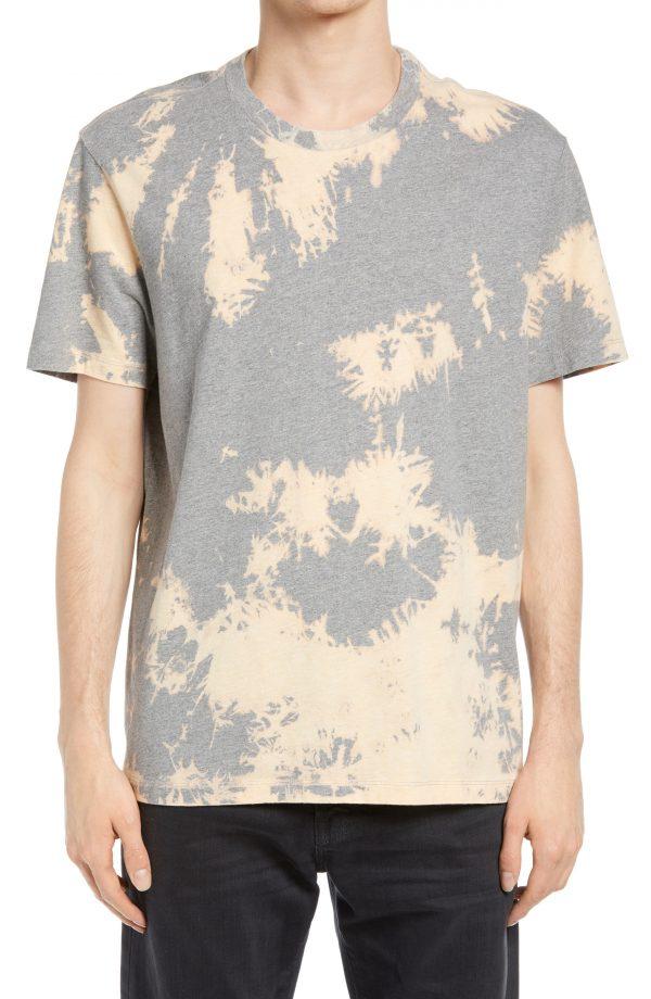 Men's Allsaints Phillips Tie Dye T-Shirt, Size X-Small - Grey