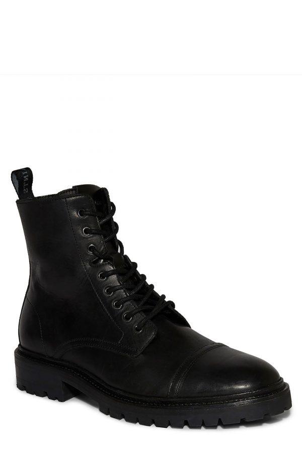 Men's Allsaints Piero Cap Toe Boot, Size 11 M - Black