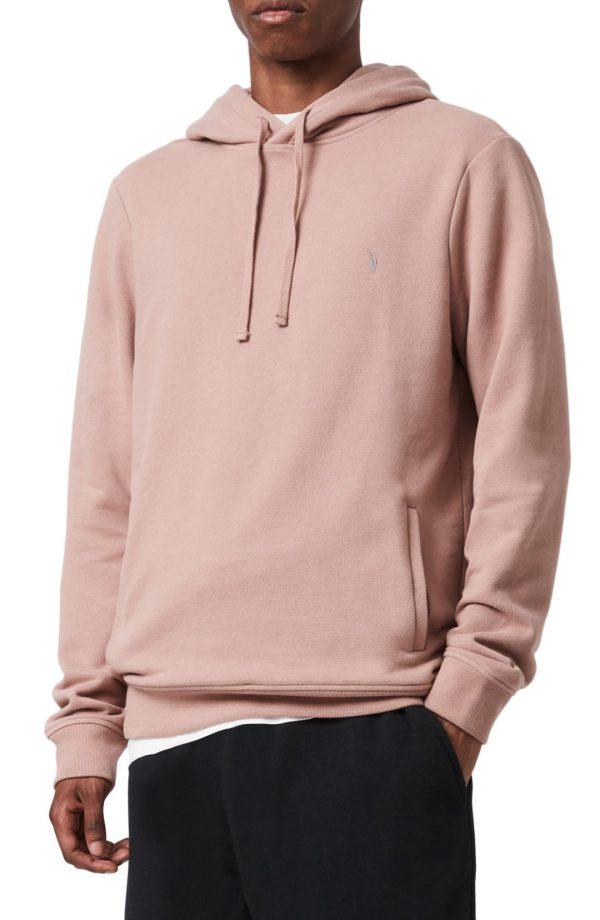 Men's Allsaints Raven Hoodie, Size Large - Pink