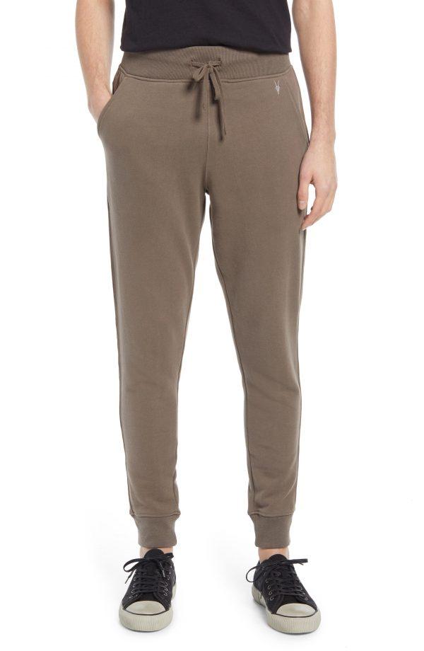 Men's Allsaints Raven Slim Fit Sweatpants, Size X-Large - Beige