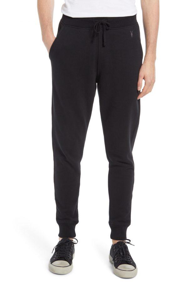 Men's Allsaints Raven Slim Fit Sweatpants, Size XX-Large - Black
