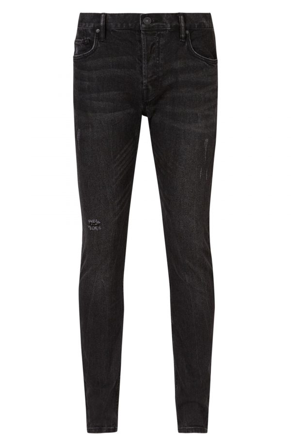 Men's Allsaints Rex Slim Fit Straight Leg Jeans, Size 28 - Black