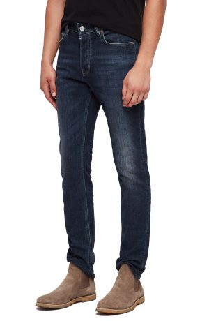 Men's Allsaints Rex Slim Fit Stretch Straight Leg Jeans, Size 28 - Blue