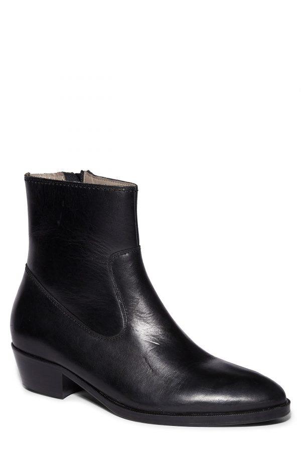 Men's Allsaints Ridge Zip Boot, Size 9 M - Black