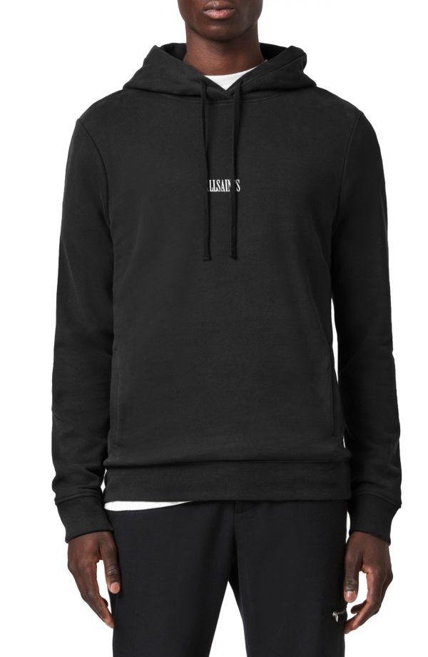 Men's Allsaints Ryder Hoodie, Size XX-Large - Black