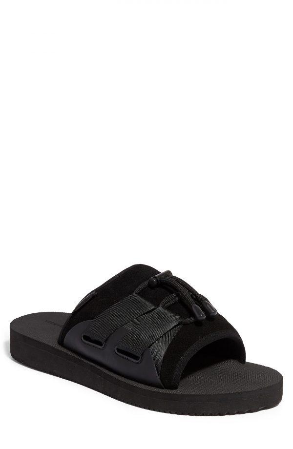 Men's Allsaints Ryder Slide Sandal, Size 7 M - Black