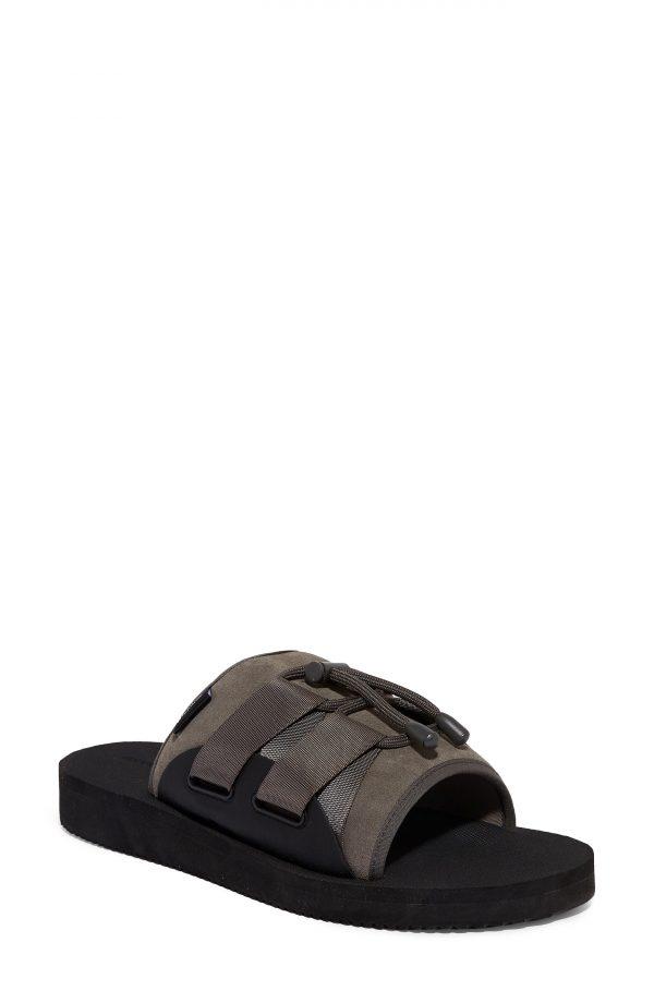 Men's Allsaints Ryder Slide Sandal, Size 9 M - Grey