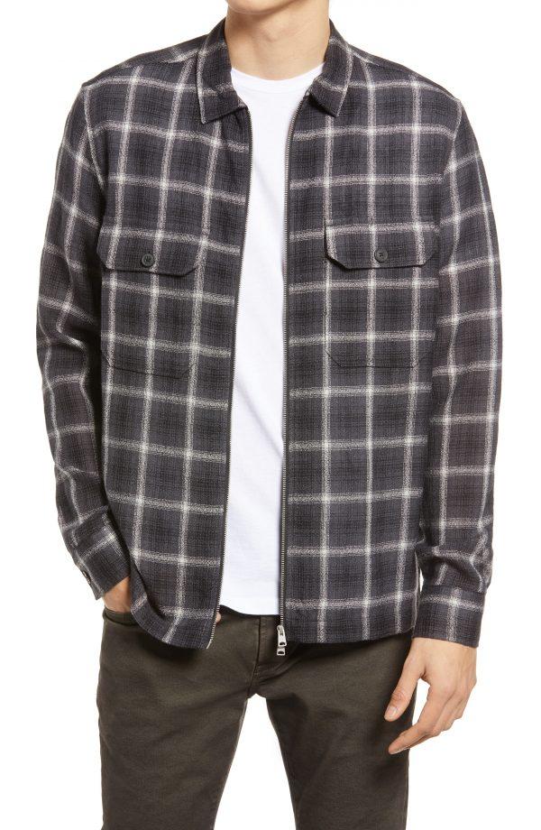 Men's Allsaints Shoreham Shirt Jacket, Size XX-Large - Black