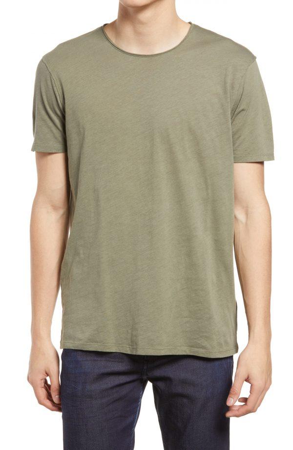 Men's Allsaints Slim Fit Crewneck T-Shirt, Size Large - Brown