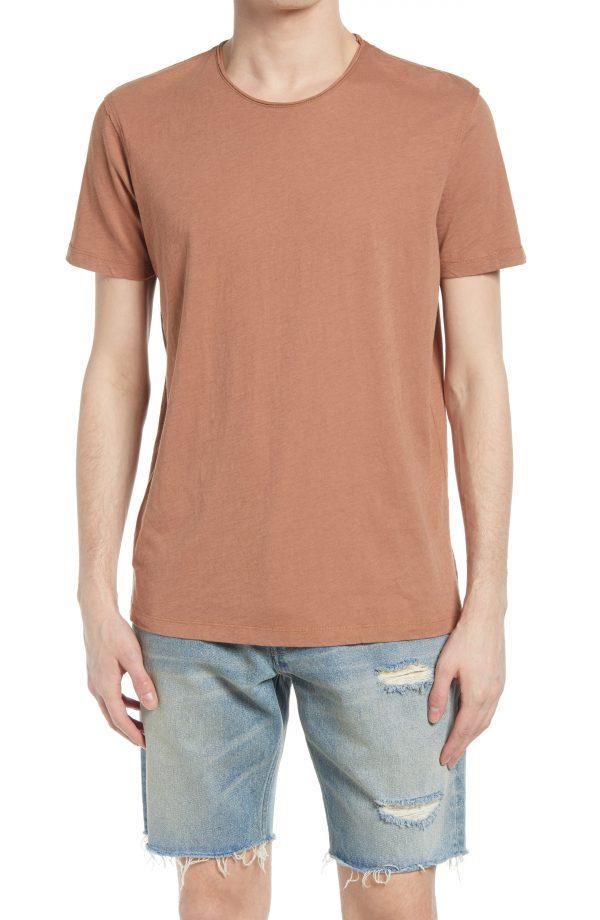 Men's Allsaints Slim Fit Crewneck T-Shirt, Size X-Large - Brown