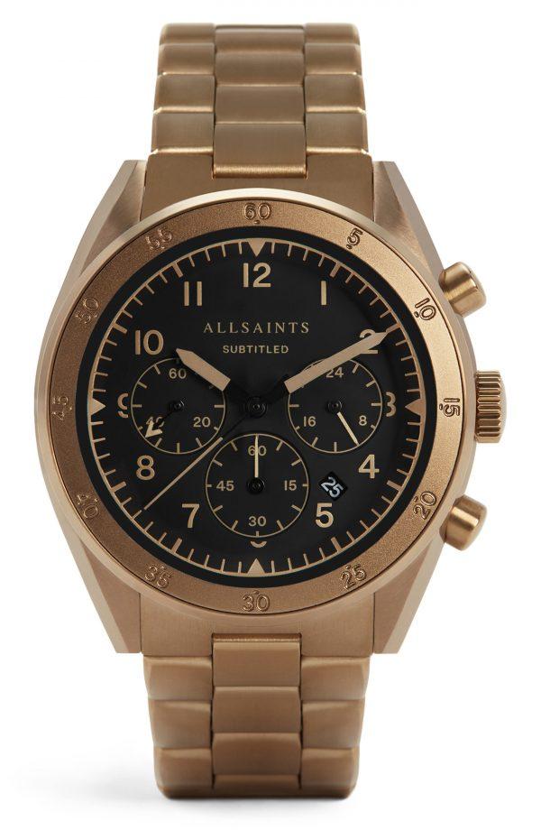 Men's Allsaints Subtitled Vi Bracelet Watch, 42mm
