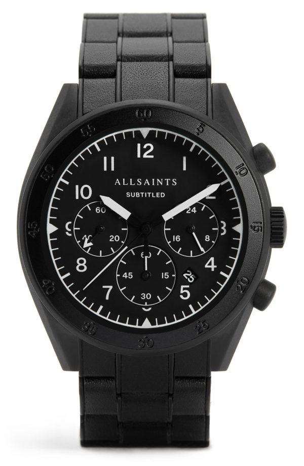 Men's Allsaints Subtitled Vii Bracelet Watch, 42mm