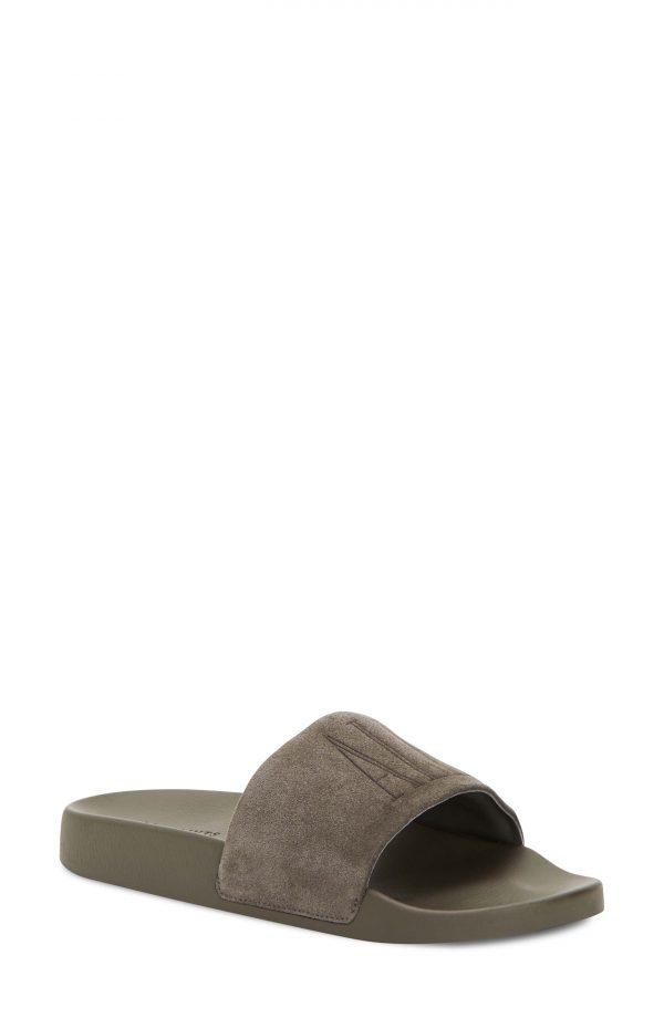 Men's Allsaints Sunland Slide Sandal, Size 12 M - Grey