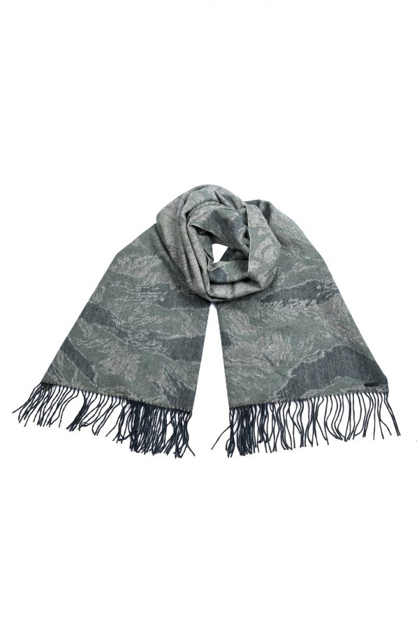 Men's Allsaints Taiwan Wool Camouflage Scarf, Size One Size - Green