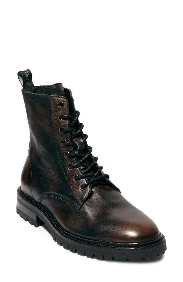 Men's Allsaints Tobias Plain Toe Boot, Size 10 M - Brown
