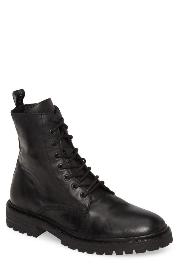 Men's Allsaints Tobias Plain Toe Boot, Size 7 M - Black
