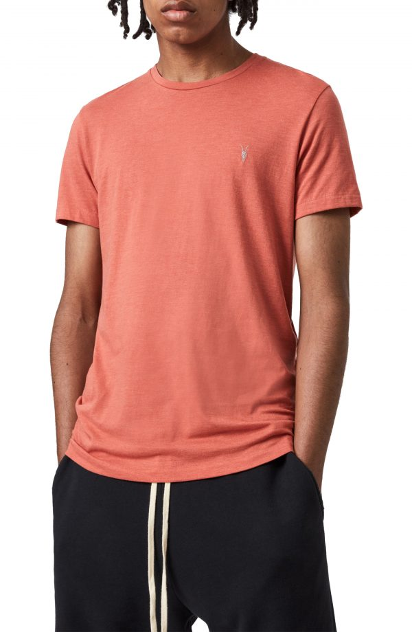 Men's Allsaints Tonic Slim Fit Crewneck T-Shirt, Size Medium - Red