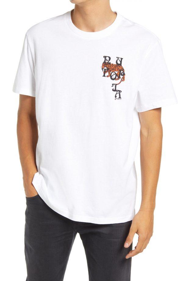 Men's Allsaints Tripper Cotton Graphic Tee, Size Small - White
