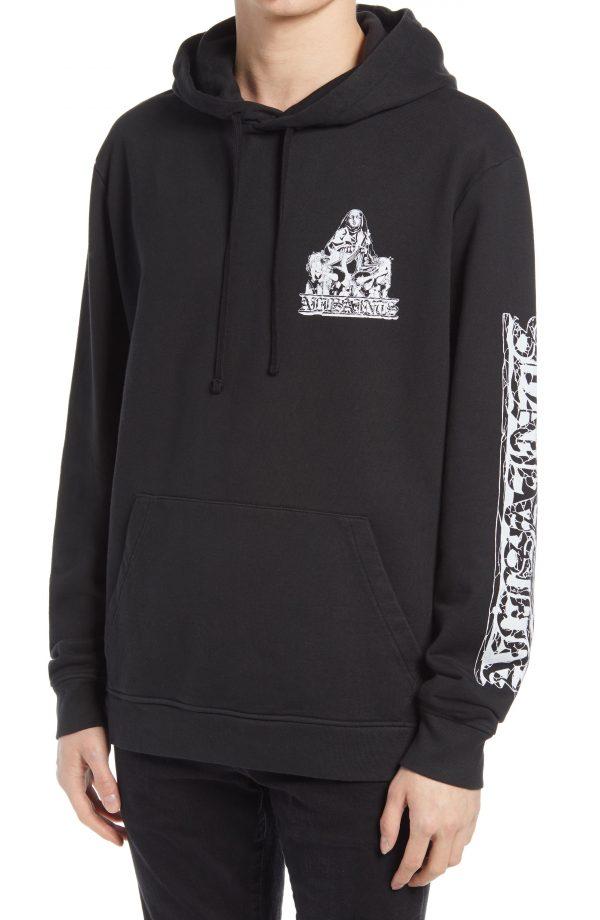 Men's Allsaints Troglodyte Graphic Hoodie, Size X-Large - Black