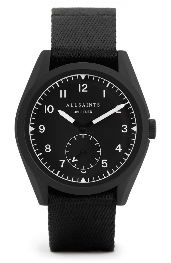 Men's Allsaints Untitled I Nato Strap Watch, 42mm
