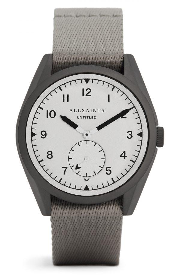 Men's Allsaints Untitled Ii Nato Strap Watch, 42mm