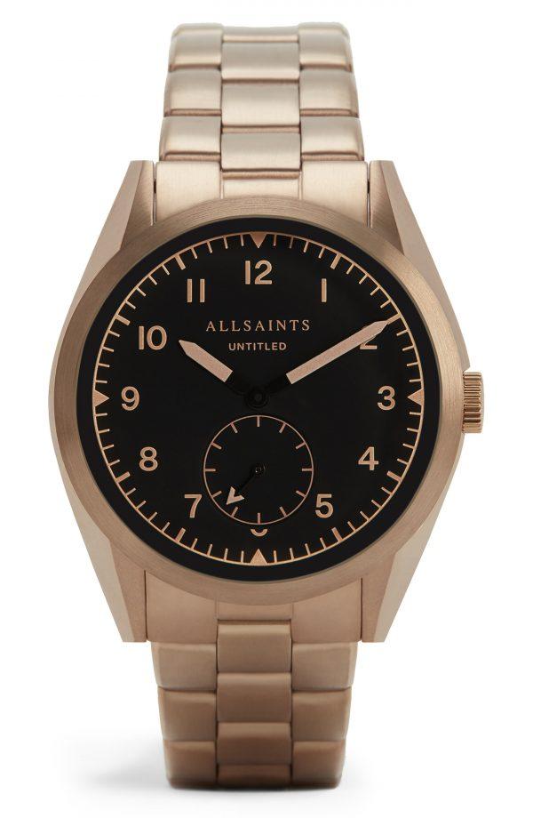 Men's Allsaints Untitled Vii Bracelet Watch, 40mm
