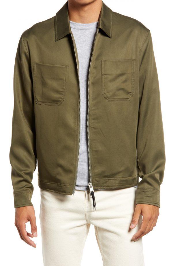 Men's Allsaints Wake Zip Jacket, Size Small - Green