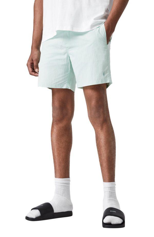 Men's Allsaints Warden Swim Shorts, Size Small - Blue