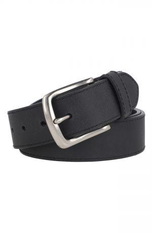 Men's Allsaints Weathered Leather Belt, Size 36 - Black