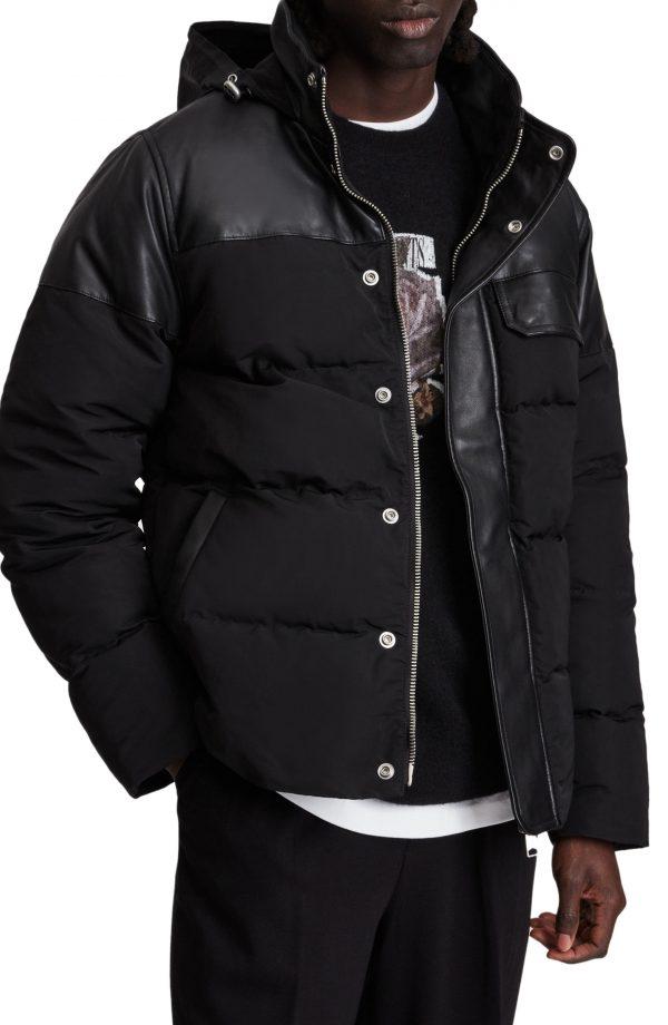 Men's Allsaints Woodrow Puffer Jacket, Size Small - Black
