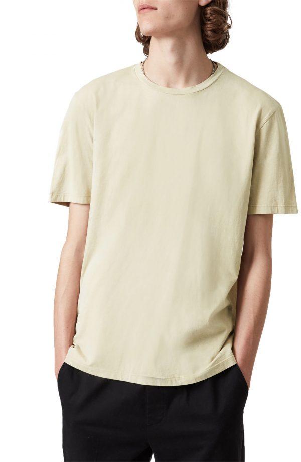 Men's Allsaints Wyatt Short Sleeve Cotton T-Shirt, Size X-Small - Brown