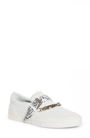 Men's Amiri Bandana Chain Slip-On Sneaker, Size 8US - White