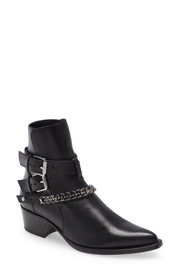 Men's Amiri Chain Jodhpur Boot, Size 8US - Black