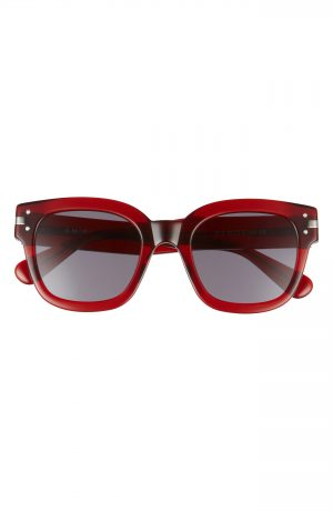 Men's Amiri Classic Logo Square Sunglasses - Clear Red
