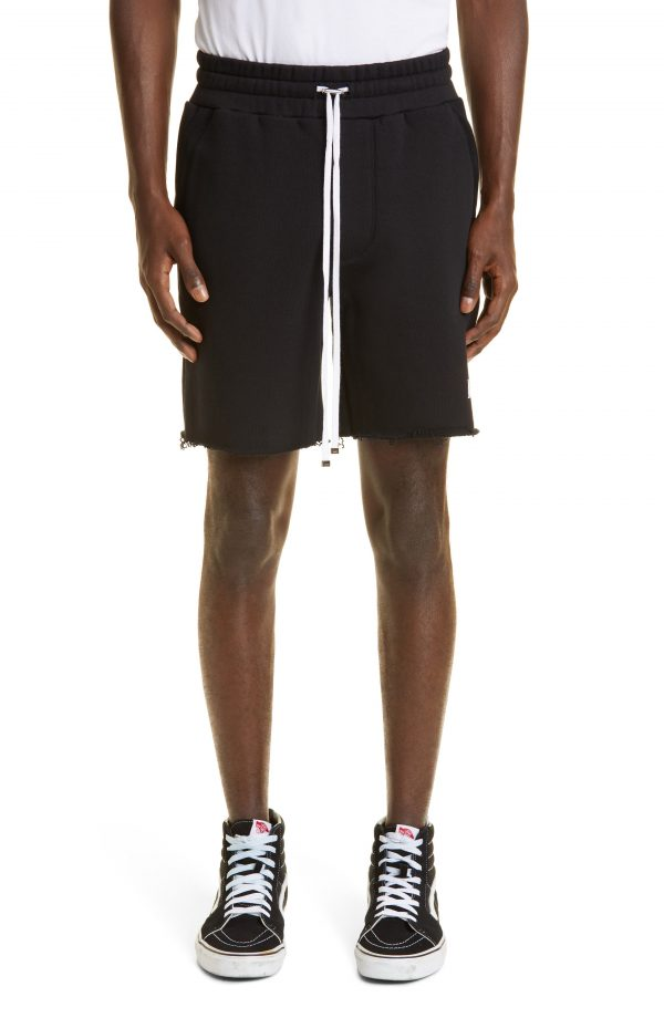Men's Amiri Core Logo Cutoff Shorts, Size Small - Black