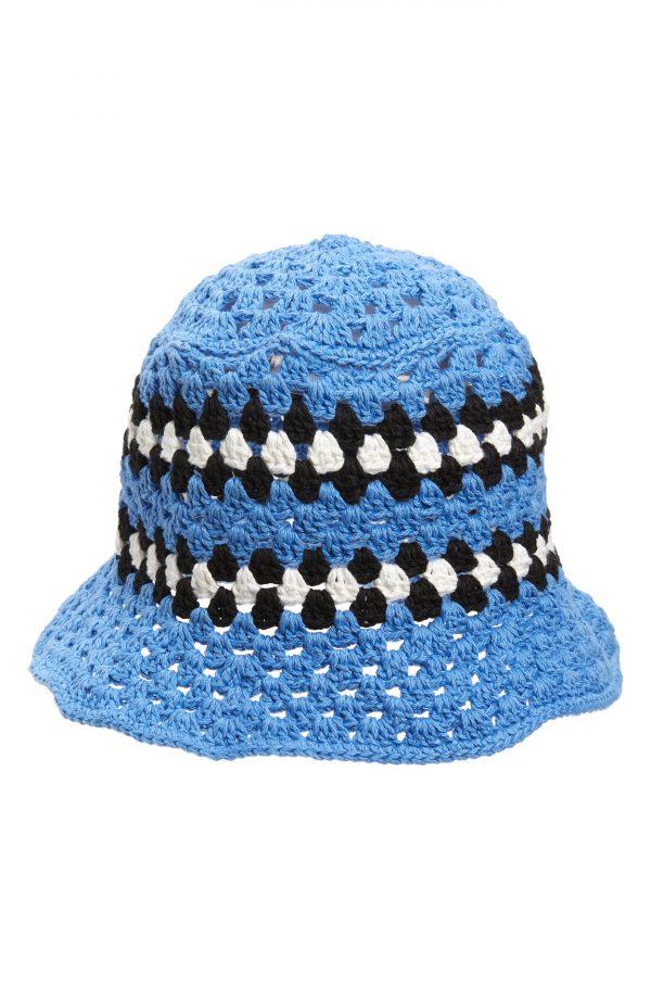 Men's Amiri Crochet Bucket Hat - Blue