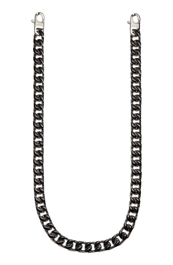 Men's Amiri Enamel Wallet Chain - Black