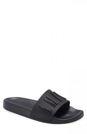 Men's Amiri Logo Pool Slide Sandal, Size 7US - Black