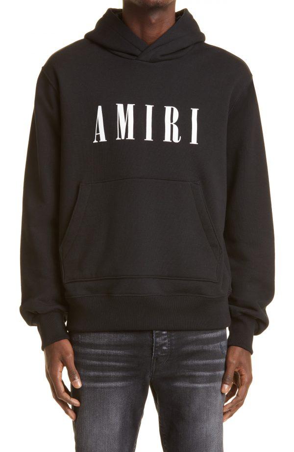 Men's Amiri Men's Core Logo Cotton Hoodie, Size Large - Black