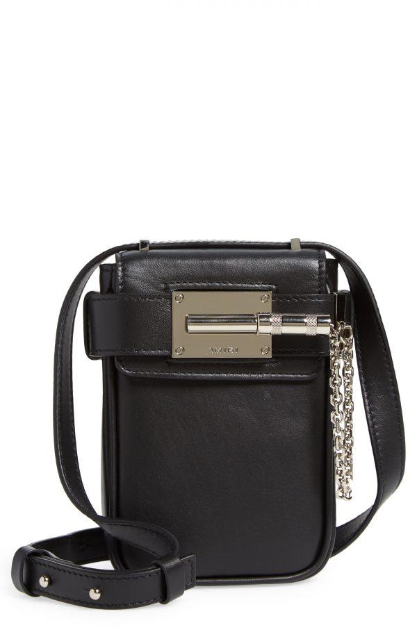 Men's Amiri Mini Amp Leather Crossbody Bag - Black
