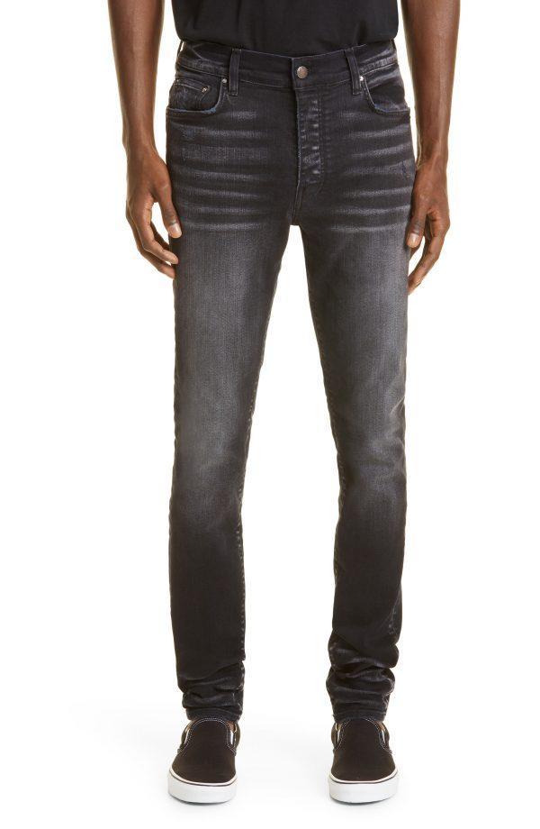 Men's Amiri Stack Slim Fit Jeans, Size 30 - Black